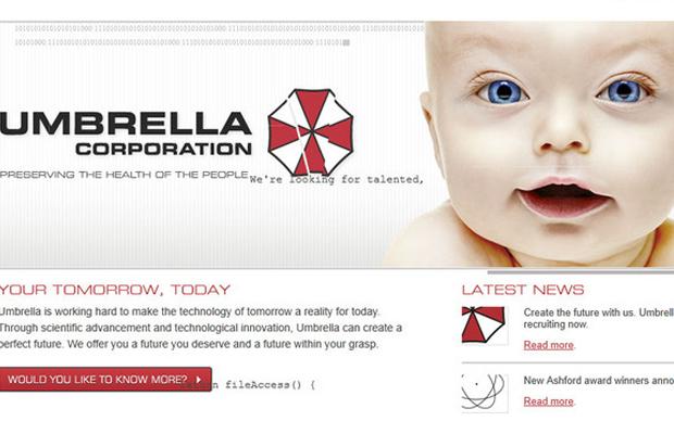 """Site """"oficial"""" da Umbrella (Foto: Reprodução)"""