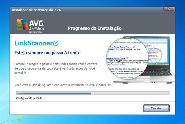 Instalação do AVG Free Edition 2012 (Foto: Reprodução)