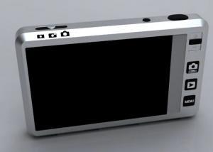 Menu de câmera digital, criado por Miha Feus tem funções semelhantes ao touchpad (Foto: Reprodução)