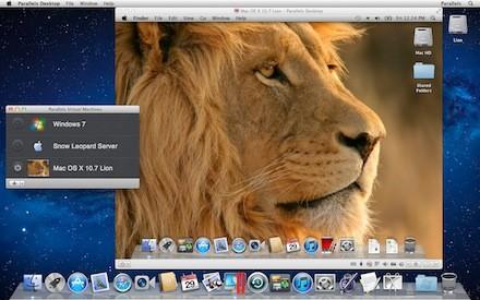 Parallels 7 executando o Mac OS X Lion. (Foto: Reprodução)