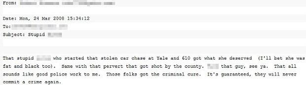 Cópia de um dos emails divulgados pelo grupo (Foto: Reprodução)