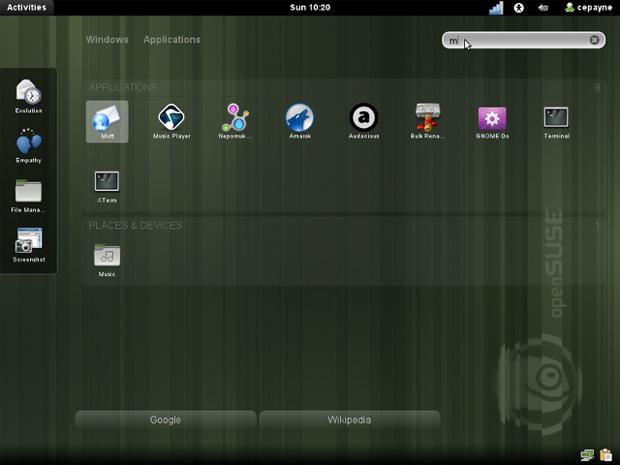 openSUSE Desktop (Foto: Divulgação)