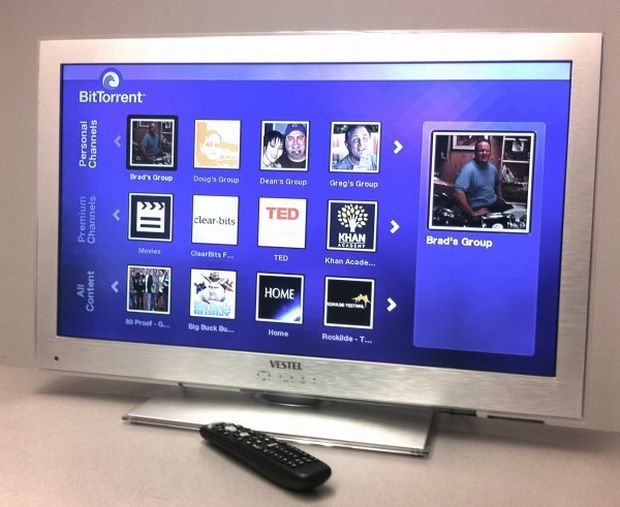 TV com certificado BitTorrent da Vestel fará download apenas de conteúdos legais (Foto: Reprodução)