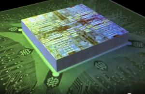 """Concepção de como será um chip """"3D"""" (Foto: Reprodução)"""