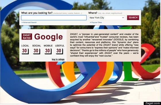 Google compra Zagat. (Foto: Divulgação)