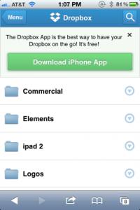 Novo webapp para o Dropbox (Foto: Divulgação)