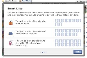Smart Lists, nova ferramenta do Facebook. (Foto: Divulgação)