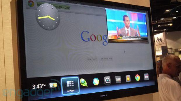 Google Tv rodando Android Honeycomb (Foto: Reprodução/Engadget)