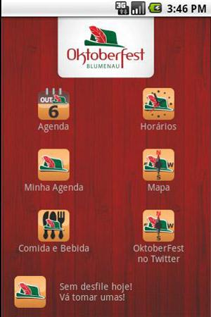 Menu do app Oktoberfest 2011 (Foto: Divulgação)