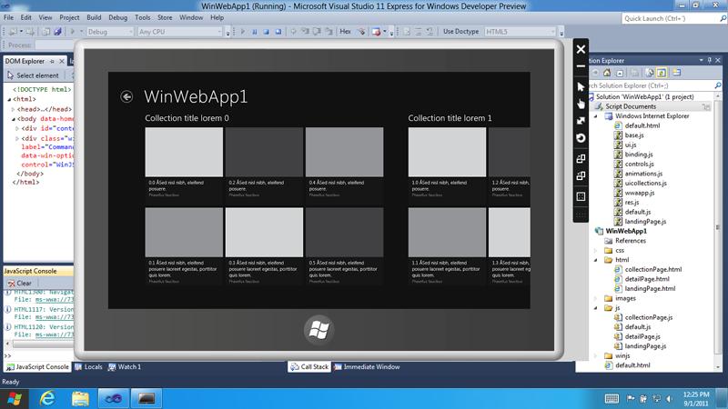 Ferramenta de desenvolvimento do Windows 8 (Foto: Divulgação)