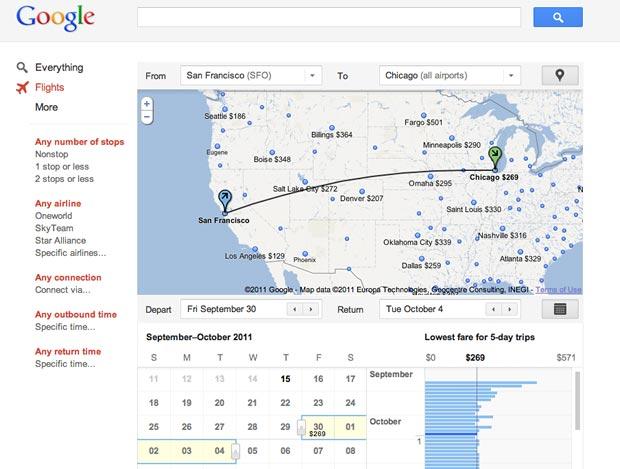 Google Flight Search (Foto: Reprodução)
