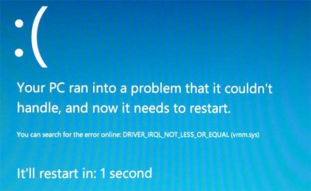 Tela Azul da Morte do Windows 8 (Foto: Reprodução)