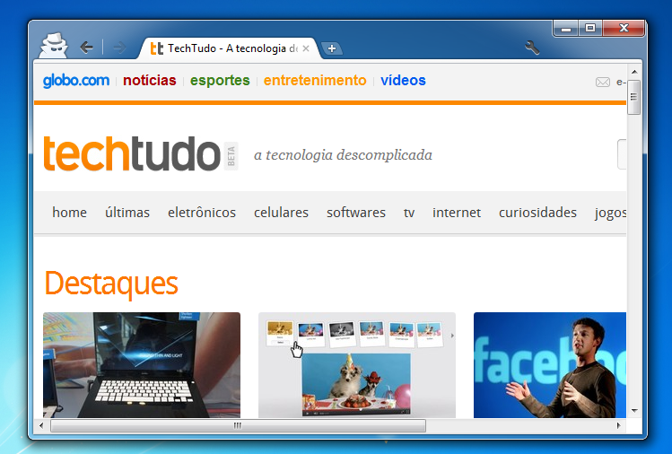 Chrome, navegação anônima (Foto: Reprodução)