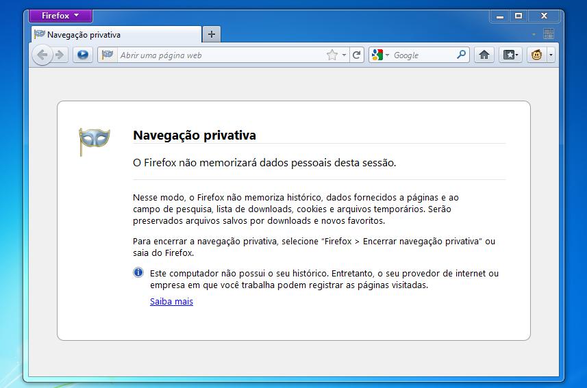 Firefox privativo (Foto: Reprodução)
