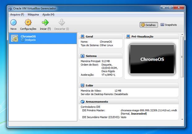 Chrome OS no VirtualBox (Foto: Reprodução)