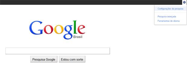 Configurações da pesquisa do Google (Foto: Reprodução/TechTudo)