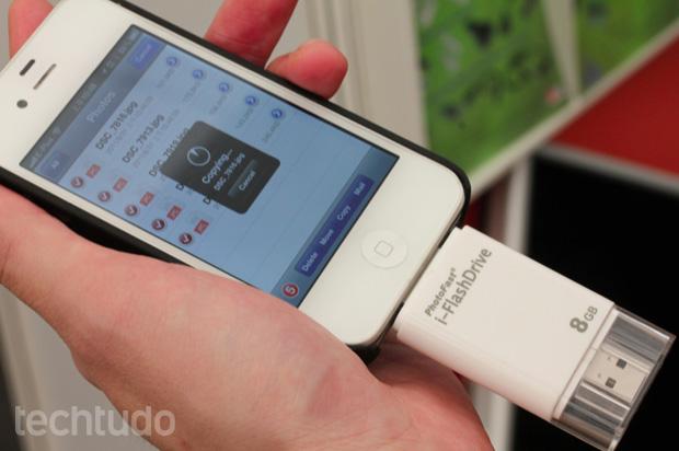 i-FlashDrive (Foto: Allan Melo/TechTudo)