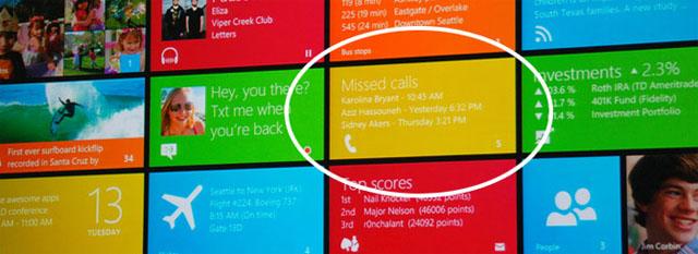 """""""Chamadas perdidas"""" no Windows 8 (Foto: Reprodução/WinRumors)"""