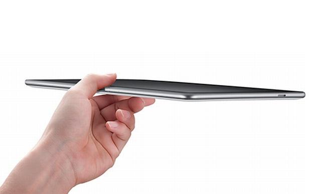 Detalhe na espessura do Galaxy Tab 10.1 (Foto: Divulgação)