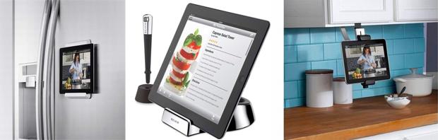 Acessórios para usar iPad na cozinha (Foto: Reprodução/TechTudo)