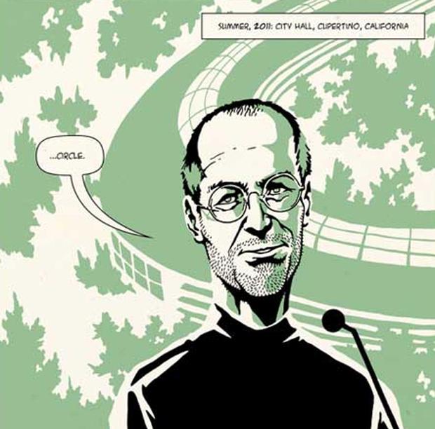 Versão de Jobs em quadrinhos (Foto: Reprodução)