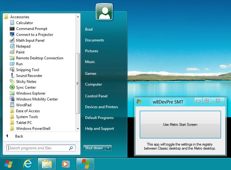 Windows 8 Start Menu Toggle (Foto: Reprodução/DeviantArt)