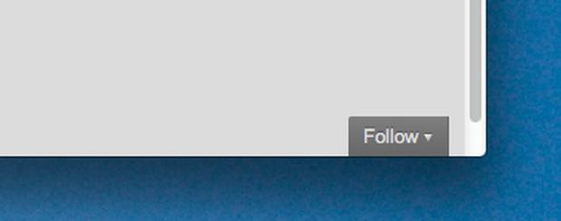 Botão de Follow no Wordpress. (Foto: Reprodução)