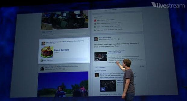 Novos aplicativos dispostos na Timeline, organizados como módulos em uma página vertical.  (Foto: Produção)