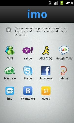 Menu com todos os serviços que você pode sincronizar ao aplicativo (Foto: Divulgação)