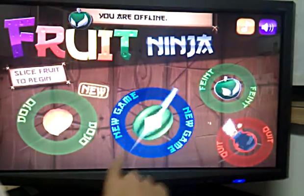 Ninja Fruit na tela de 23 polegadas (Foto: Reprodução)