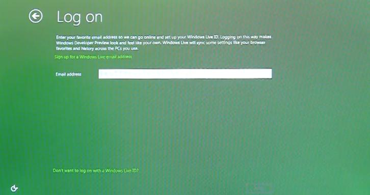 Integração entre Windows 8 e Windows Live ID  (Foto: Reprodução)