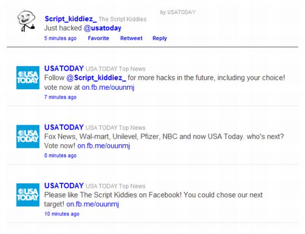 Twitter do Usa Today. (Foto: Divulgação)