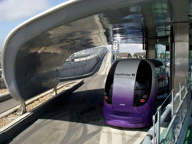 Carros automáticos do Heathrow Airport (Foto: Divulgação)
