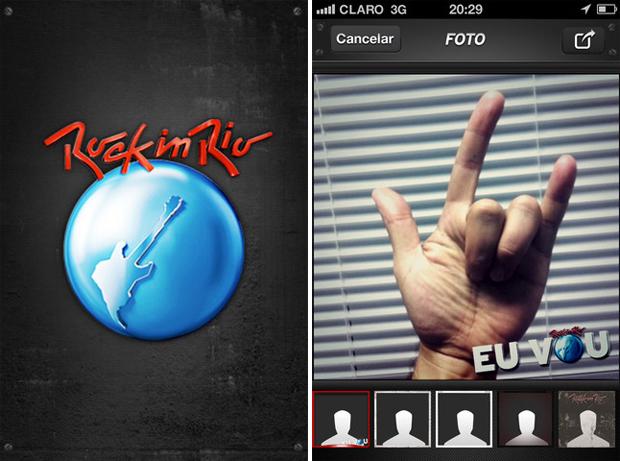 Aplicativo oficial do Rock in Rio 2011 (Foto: Reprodução/TechTudo)