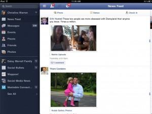 Facebook para iPad (Foto: Divulgação)