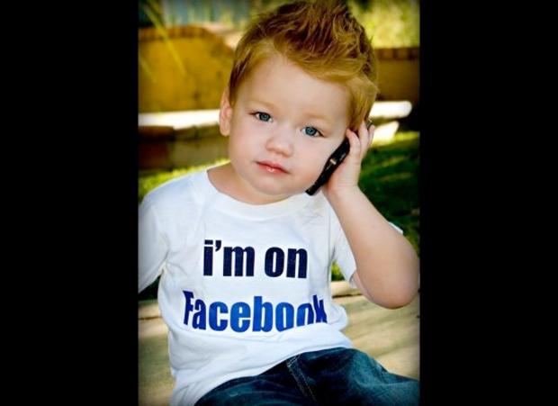 """Camisa """"Estou no Facebook"""" (Foto: Reprodução)"""