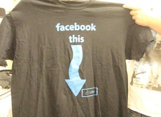 """Camisa """"Facebook isto"""" (Foto: Reprodução)"""