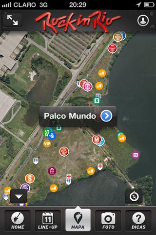 Mapa do Rock in Rio (Foto: Reprodução)