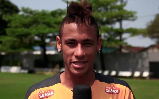 Neymar comenta sua participação no vídeo (Foto: Reprodução)