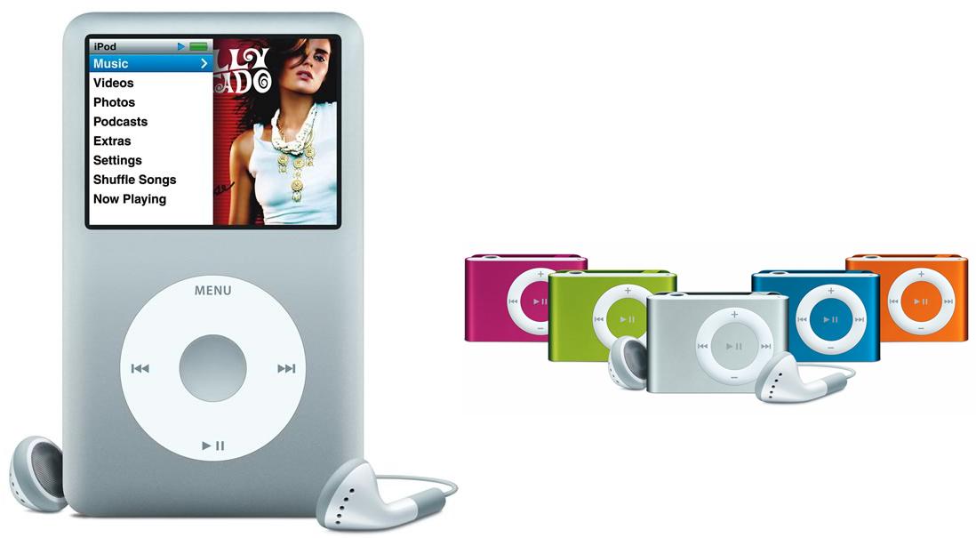 iPod Classic e Shuffle. (Foto: Divulgação)