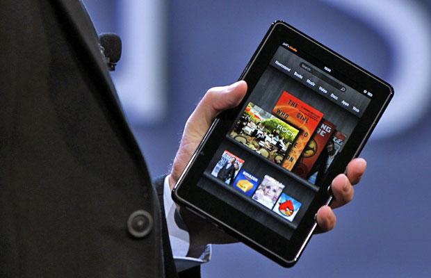Kindle Fire apresentado pela Amazon em evento para a imprensa (Foto: Divulgação)