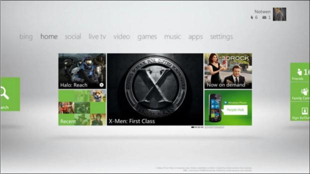 Nova Dashboard do Xbox 360 terá reconhecimento de voz (Foto: CVG)
