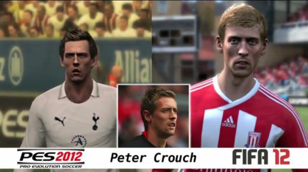 Comparação entre PES 2012 e FIFA 12 (Foto: Divulgação)