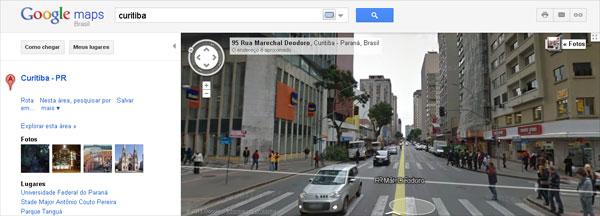 Google Street View agora apresenta cidades do sul do Brasil. (Foto: Reprodução)