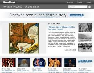 Site Timelines.com (Foto: Reprodução)