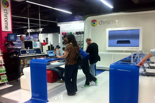 Na primeira Chromezone, apenas Chromebooks. (Foto: Thinq)