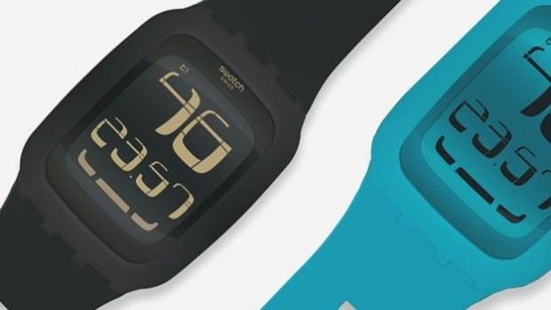 Relógio da Swatch é sensível ao toque. (Foto: Engadget)