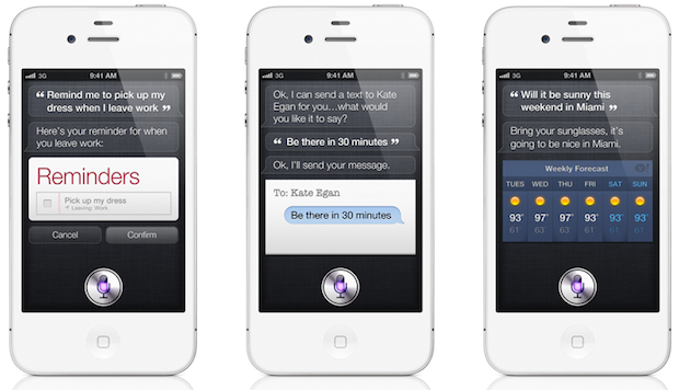 Siri, recurso presente no iPhone 4S (Foto: Divulgação)