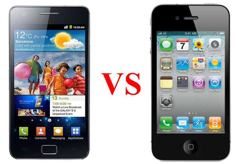 Galaxy S II vs iPhone 4S (Foto: Arte/TechTudo)