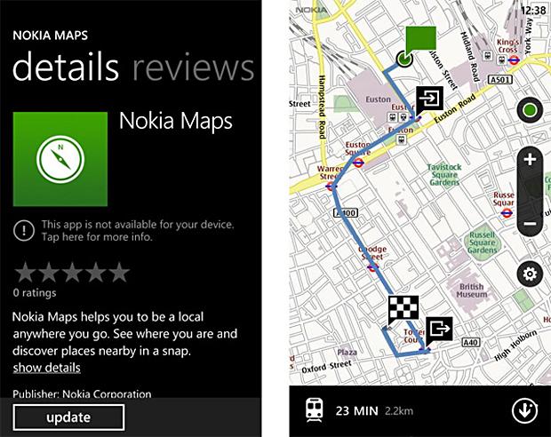 Nokia Mapas (Foto: Reprodução)